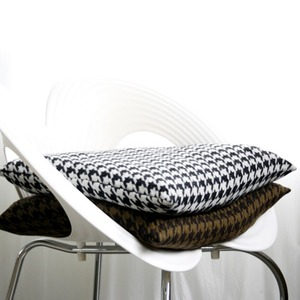w houndtooth sittingcushion(솜포함)